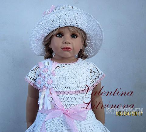 Вязаное платье для девочки. Работа Валентины Литвиновой вязание и схемы вязания