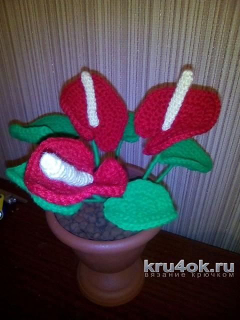 Вязаные крючком цветы. Работа Ирины вязание и схемы вязания