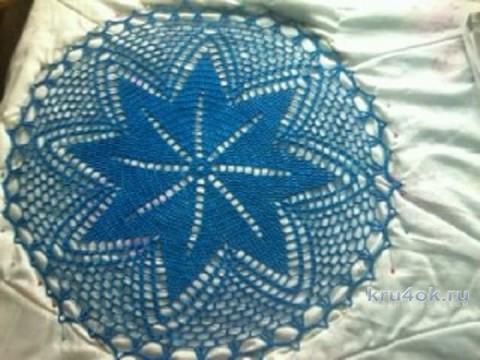 Вязаные крючком салфетки. Работы Виктории вязание и схемы вязания