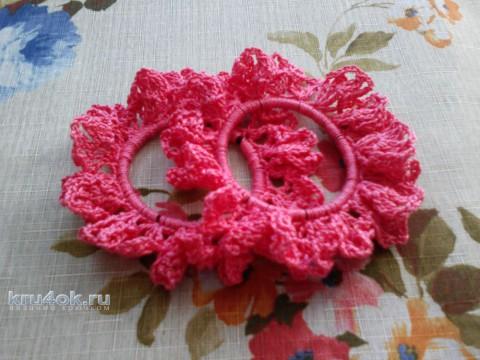 Вязаные резиночки для волос. Работы Ольги вязание и схемы вязания