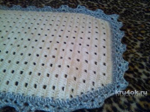 Вязаный коврик для ванной. Работа Виктории вязание и схемы вязания