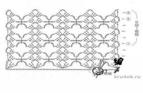 Вязаный палантин Сиреневый туман. Работа Светланы Ивановой вязание и схемы вязания