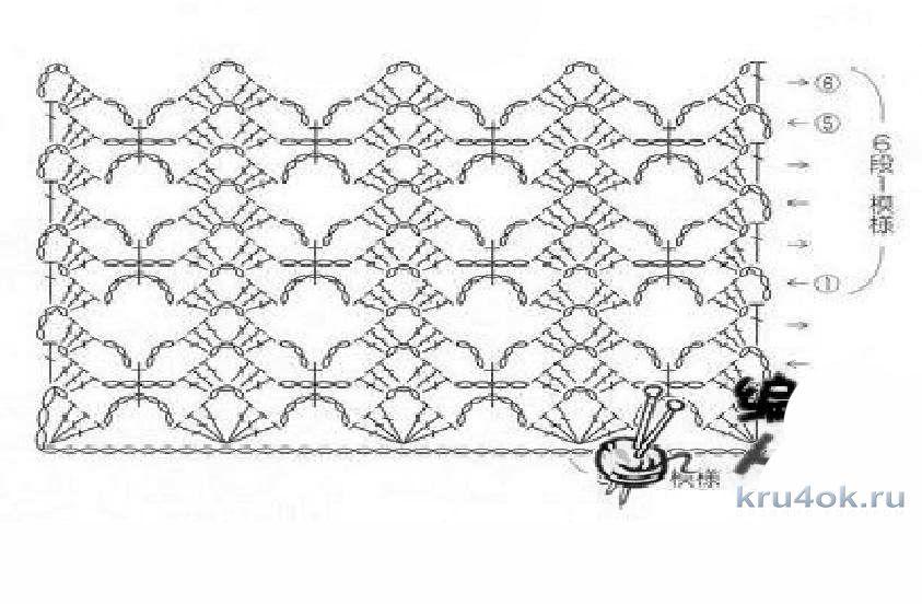 Узор вязание крючком палантин 925