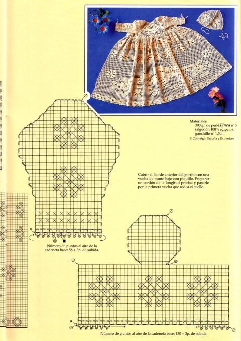 схема вязания пинеток и платья