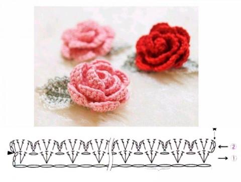 Вязаные заколки для волос. Работы Temirgaliieva.evg вязание и схемы вязания