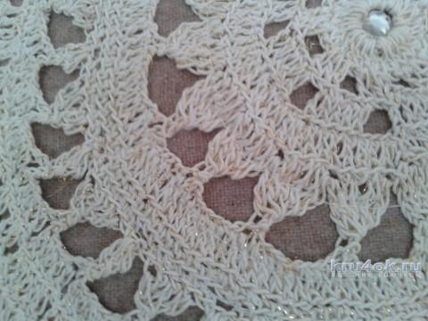 Чехол для подушки крючком. Работа Фланденой Татьяны вязание и схемы вязания