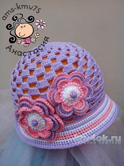 Панама - шляпка для девочки Дейзи. Работа Анастасии ams-kmv75