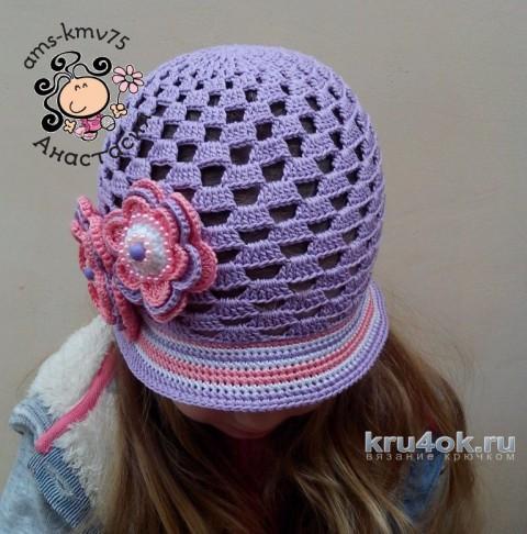 Панама - шляпка для девочки Дейзи. Работа Анастасии вязание и схемы вязания