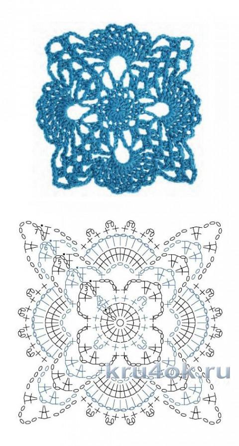 Пляжная туника крючком. Работа Елены Шевчук вязание и схемы вязания