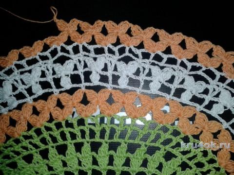Салфетка цветная крючком. Мастер - класс от Фланденой Татьяны вязание и схемы вязания