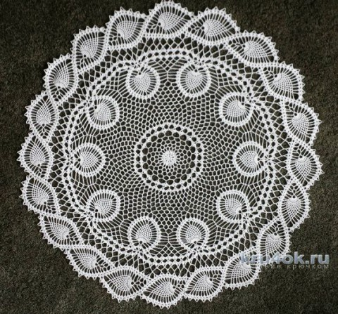 Салфетка крючком. Работа Марины вязание и схемы вязания