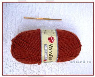 Шапочка, связанная крючком. Работа Анны Черновой вязание и схемы вязания