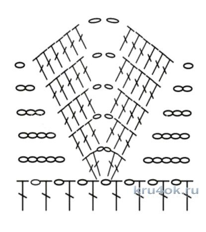 Туника крючком. Работа кaRomЭлькa вязание и схемы вязания