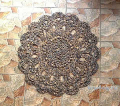Вязаные крючком коврики. Работы Елены  Шевчук вязание и схемы вязания