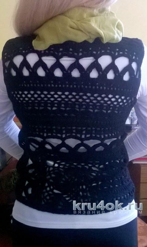 Вязаный крючком жилет. Работа Елены  Шевчук вязание и схемы вязания
