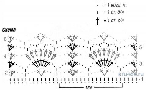 Вязаный топ в филейной технике. Работа Петровой Виктории вязание и схемы вязания