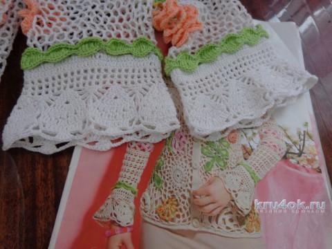 Жакет крючком. Работа Надежды Лавровой вязание и схемы вязания