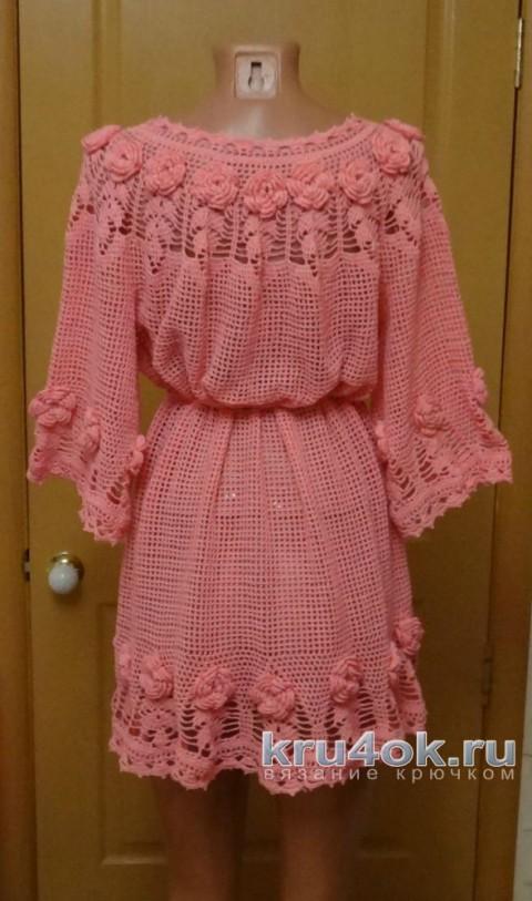 Женская туника крючком. Работа Тамары Матус вязание и схемы вязания