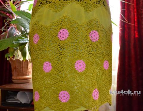 Женская туника крючком. Работа zaverolga вязание и схемы вязания