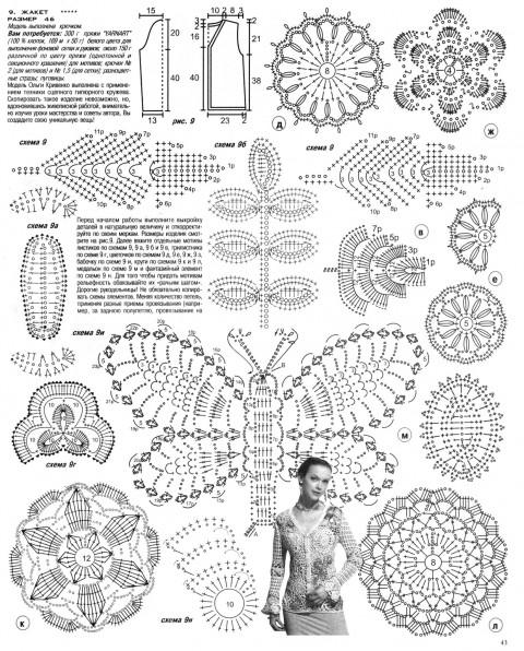 схемы вязания жакета