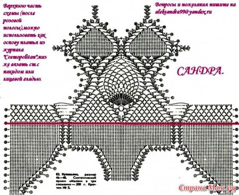 Схема вязания купальника:
