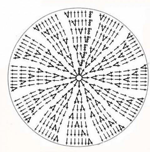 схема вязания шапки - бини