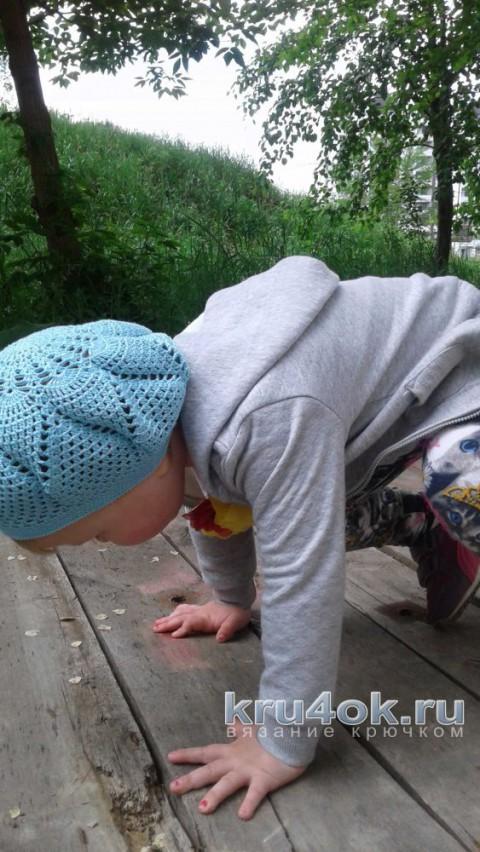 Детский берет крючком. Работа Юлии Ковалевой вязание и схемы вязания