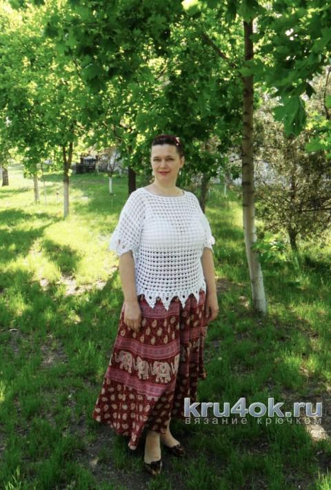 Кофточка летняя крючком. Работа Светланы Шевченко вязание и схемы вязания