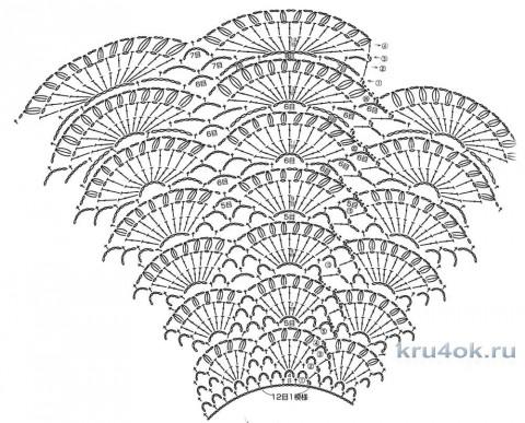 Коралловый топ крючком. Работа Лизы Ивановой вязание и схемы вязания
