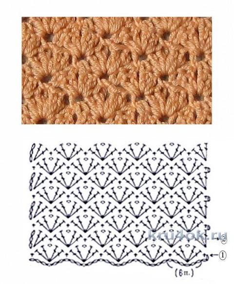 Кроп-топ крючком. Работа Иры Ро вязание и схемы вязания