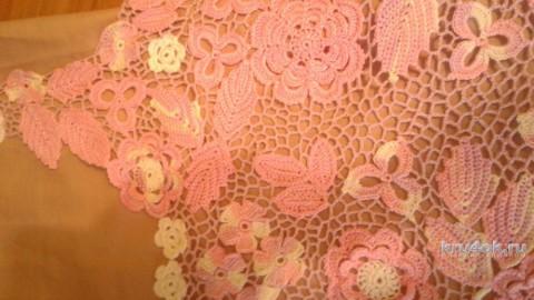 Платье Весенняя фантазия. Работа Юлии Ковалевой вязание и схемы вязания