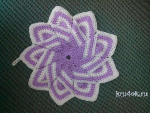 Прихватка Цветок крючком. Работа Катерины Петяниной вязание и схемы вязания