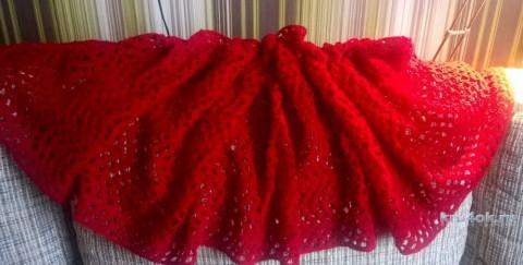 Пуховый шарф крючком. Работа Елены Шевчук вязание и схемы вязания