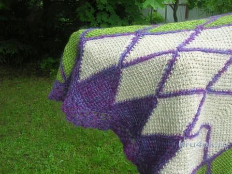 Шаль Цветок 2. Работа Татьяны Родионовой вязание и схемы вязания