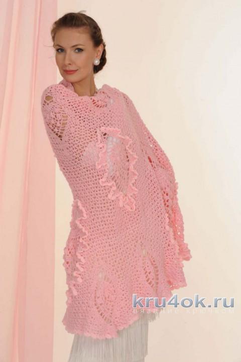Шаль Розовые шишки. Работа Татьяны Родионовой вязание и схемы вязания