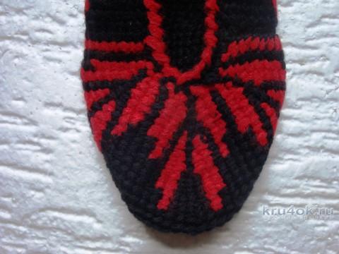 Следки, тунисское вязание. Работа Анны Черновой вязание и схемы вязания