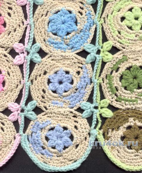 Топы из шестиугольных мотивов. Работы Татьяны Родионовой вязание и схемы вязания