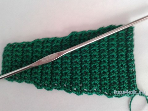 Вязаная косметичка Арбуз. Мастер - класс от Фланденой Татьяны вязание и схемы вязания