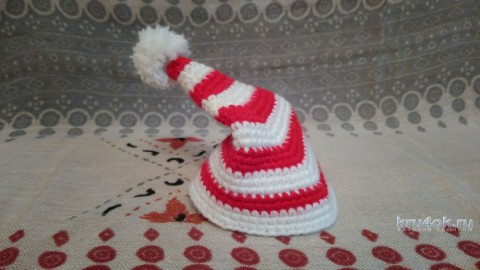 Вязаная крючком игрушка Буратино. Работа Ксении вязание и схемы вязания