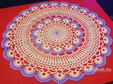 Вязаные салфетки. Работы Татьяны Разумовской вязание и схемы вязания