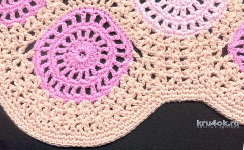 Юбочка с круглыми мотивами. Работа Татьяны Родионовой вязание и схемы вязания
