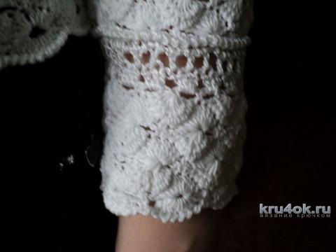 Женская кофточка крючком. Работа Ольги вязание и схемы вязания