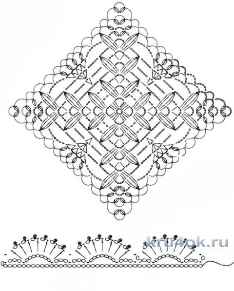 Женская туника крючком. Работа Петровой Виктории вязание и схемы вязания