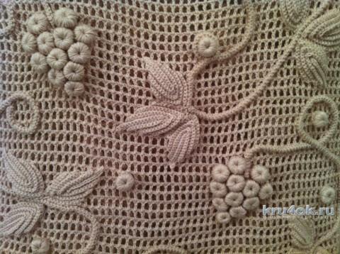 Женский топ крючком. Работа Veronika вязание и схемы вязания