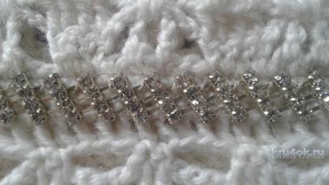 Жилет - пончо крючком. Работа Галины вязание и схемы вязания