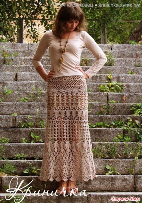 фото длинной юбки