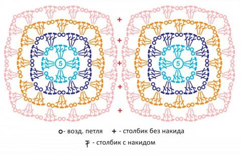 схемы вязания кроп-топа