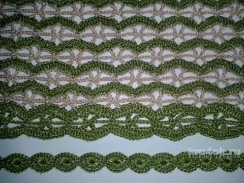 Ажурная кофта крючком. Работа Фланденой Татьяны вязание и схемы вязания