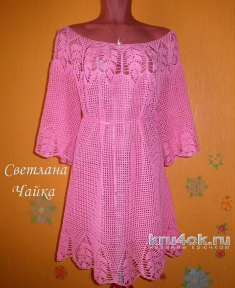 Платье - туника Незнакомка. Работа Светланы Чайка вязание и схемы вязания