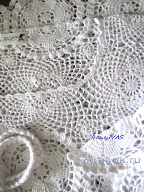 Туника летняя ажурная из мотивов. Работа Irene IVAS вязание и схемы вязания